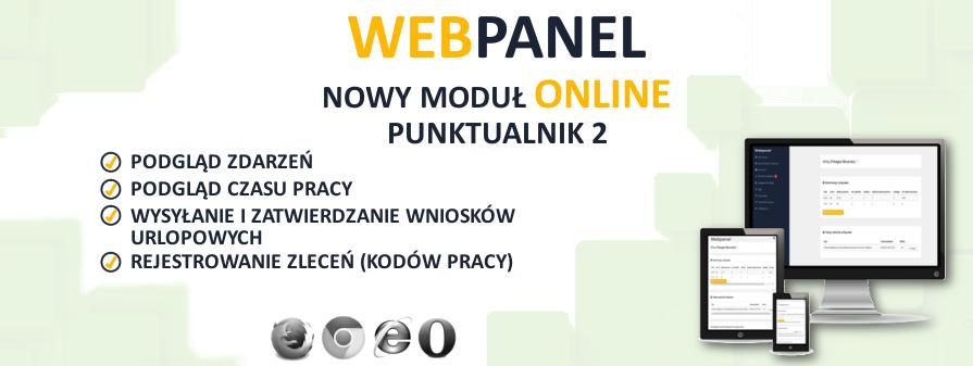 Webpanel - rejestracja czasu pracy online